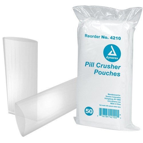 1000 Dynarex Pill Crusher Pouch Bags, Clear