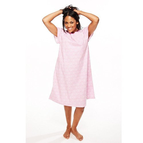 Buy Hospital Patient Gown, Pink Color by Essential | Isolation Gowns