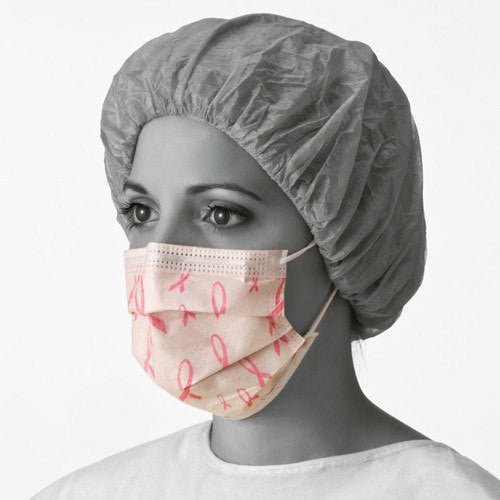 Buy Pink Ribbon Procedure Face Masks 250/Case online used to treat Face Masks - Medical Conditions