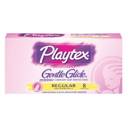 [price] Playtex Deodorant Gentle Glide Tampons 8 Count Box used for Menstruation made by Playtex [sku]