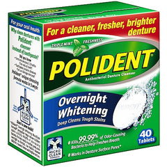 Polident Overnight Whitening Denture Cleanser Tablets for Mouth by GlaxoSmithKline | Medical Supplies