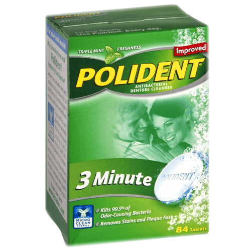 Polident 3 Minute Soak Antibacterial Denture Cleanser Tablets