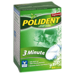 Buy Polident 3 Minute Soak Antibacterial Denture Cleanser Tablets with Coupon Code from GlaxoSmithKline Sale - Mountainside Medical Equipment
