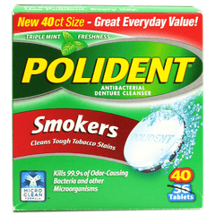 Buy Polident Smokers Denture Cleanser Tablets online used to treat Oral Care Products - Medical Conditions