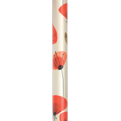 Poppy Flower Folding Walking Stick by Switch Sticks - Canes - Mountainside Medical Equipment