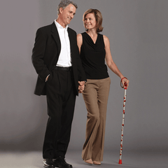 Poppy Flower Folding Walking Stick by Switch Sticks for Canes by Switch Sticks | Medical Supplies