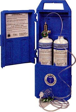 Portable Emergency Oxygen Tank Kit (Twin Pack) for Respiratory Supplies by Allied Healthcare | Medical Supplies