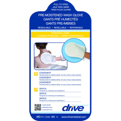 Buy Pre-Moistened Wash Gloves, 12/Pack by Drive Medical from a SDVOSB | Personal Care & Hygiene