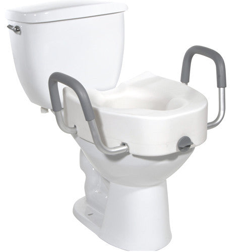 Buy Raised Toilet Seat with Removable Arms by Drive Medical from a SDVOSB | Bath Safety
