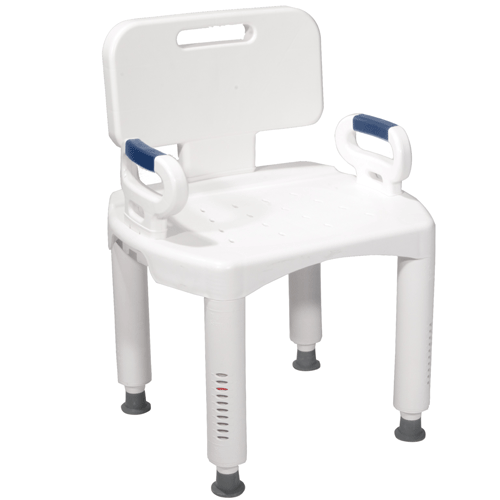 Buy Premium Adjustable Shower Chair with Back and Arms by Drive Medical | Shower Chairs