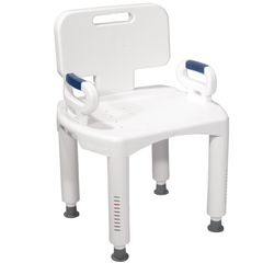 Buy Premium Adjustable Shower Chair with Back and Arms by Drive Medical wholesale bulk | Shower Chairs