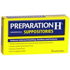 Buy Preparation H Suppositories by Wyeth Pfizer from a SDVOSB | Laxatives