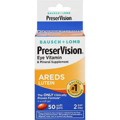 Buy PreserVision Eye Vitamin AREDS Lutein Formula 50 Softgels by Bausch & Lomb from a SDVOSB | Eye Health