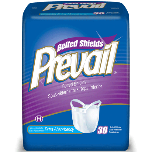 Prevail Belted Shield Undergarments with Extra Absorbency 120/Case