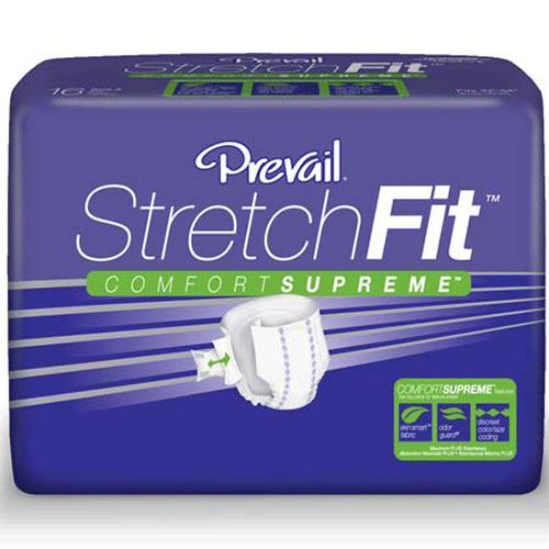Prevail StretchFit Adult Briefs (16 Pack)