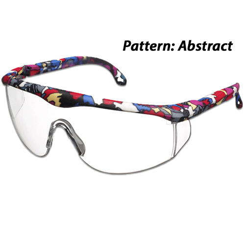 Printed Full-Frame Adjustable Protective Eyewear Glasses