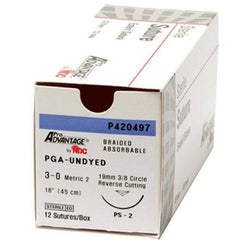 Buy Surgical Sutures Poly Acid Undyed 12/Box by Pro Advantage | Home Medical Supplies Online
