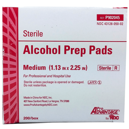 Buy Pro Advantage Alcohol Prep Pads, Sterile Medium 200/box by Pro Advantage online | Mountainside Medical Equipment