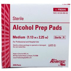 Buy Pro Advantage Alcohol Prep Pads, Sterile Medium 200/box online used to treat Alcohol Prep Pads - Medical Conditions