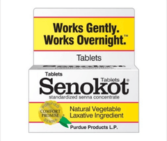 Buy Senokot Natural Laxative Tablets, 20 Count by Purdue Pharma from a SDVOSB | Laxatives