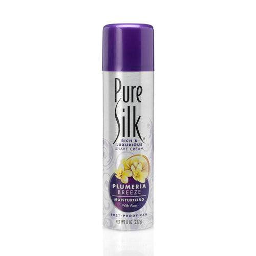 Pure Silk Plumeria Breeze Shave Cream for Women 8 oz