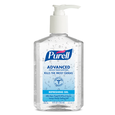 Purell Original Hand Sanitizer 8 oz Disinfectant Germ Killing Spread