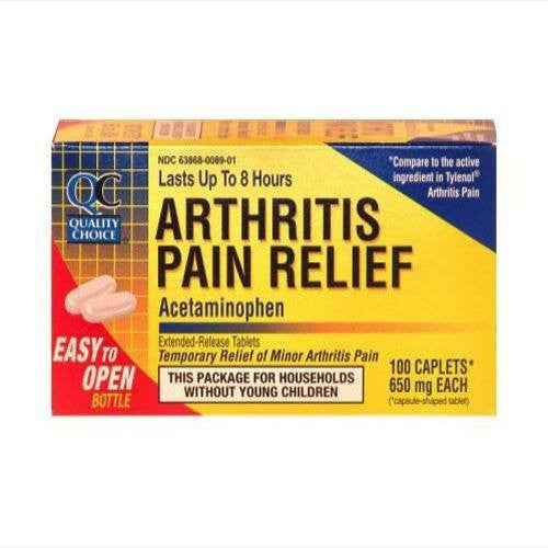 Buy QC Arthritis Pain Relief Caplets 650 mg online used to treat Pain Relievers - Medical Conditions
