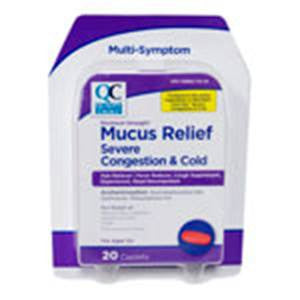 QC Mucus Relief Severe Congestion Cold Caplets
