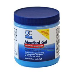 Buy QC Menthol Gel Therapeutic Pain Reliever 8 oz by Quality Choice online | Mountainside Medical Equipment