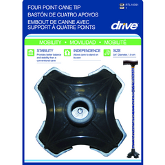 Buy Quad-Support Cane Tip by Drive Medical from a SDVOSB | Canes