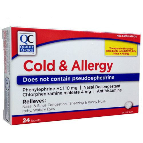 Buy Cold and Allergy Medicine 24 tablets by Quality Choice online | Mountainside Medical Equipment