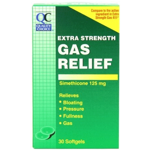 Quality Choice Extra Strength Gas Relief Softgels, 30/Box