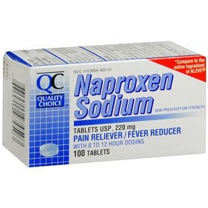 Buy Quality Choice Naproxen Sodium 220mg Tablets, 100 Count by Quality Choice | Home Medical Supplies Online