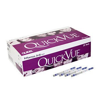 Buy Quidel Quickvue Influenza A+B Tests 25/Box by Quidel Corporation | SDVOSB - Mountainside Medical Equipment