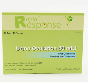 Rapid Response Urine Ovulation Testing Kit 25/Box
