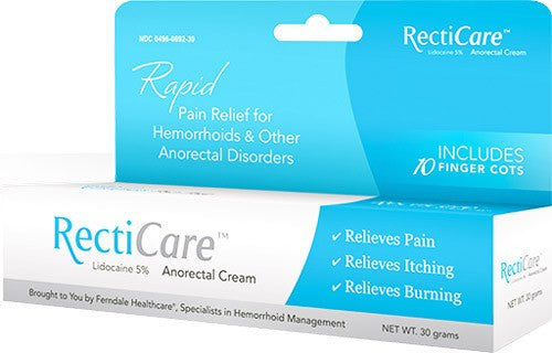 Recticare Anorectal Cream with Lidocaine 5%