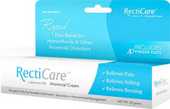 Recticare Anorectal Cream with Lidocaine 5% for Laxatives by Ferndale Laboratories | Medical Supplies