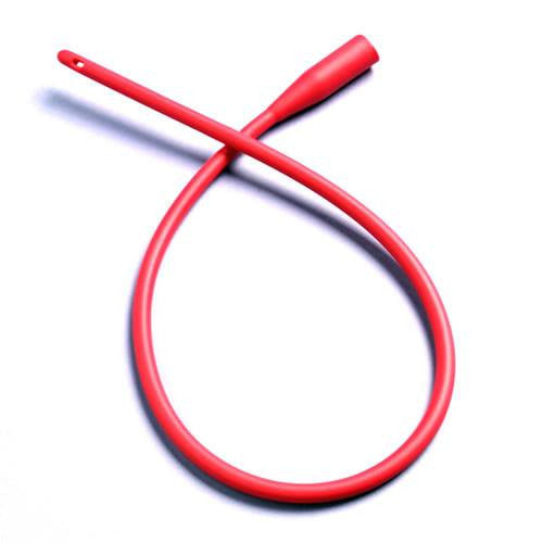 Buy Red Rubber Catheter, Sterile by Amsino from a SDVOSB | Catheters