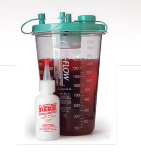 Safetec Red Z Can Z Solidifier Bottle 1500cc - Fluid Control Solidifiers - Mountainside Medical Equipment
