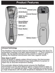 Buy Infrared Non-Contact Thermometer by Briggs Healthcare/Mabis DMI from a SDVOSB | Digital Thermometers