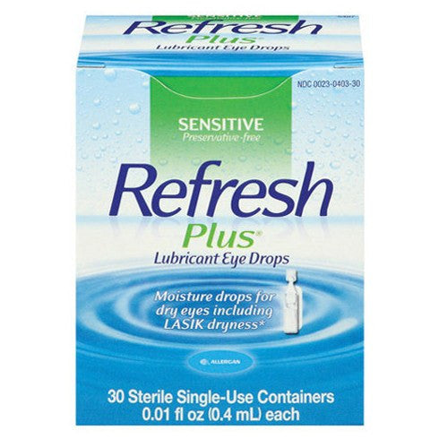Refresh Plus Sensitive Lubricant Eye Drops 30 Single Use Vials
