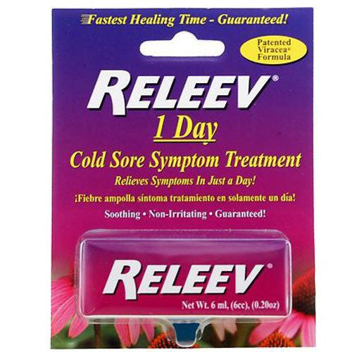 Releev 1 Day Cold Sore Treatment for Cold Sores by Merix Pharmaceutical Corp | Medical Supplies