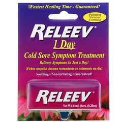 Buy Releev 1 Day Cold Sore Treatment by Merix Pharmaceutical Corp from a SDVOSB | Cold Sores
