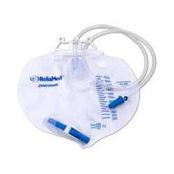 ReliaMed Drainage Bag 2000ml with Double Hanger and Sampling Port - Urine Bags - Mountainside Medical Equipment