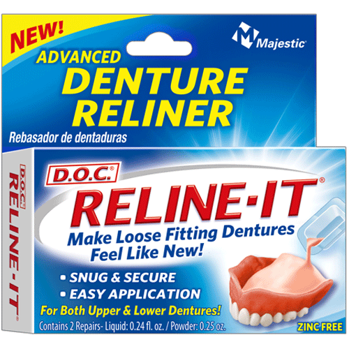 Reline-It Advanced Denture Reliner, 2/Box