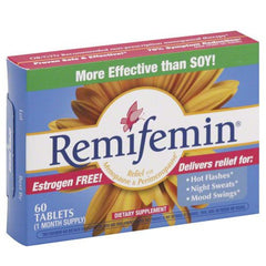 Buy Remifemin Menopause Relief 60 Tablets by Enzymatic Therapy from a SDVOSB | Menopause Relief
