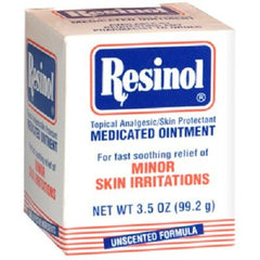 Resinol Medicated Skin Ointment Unscented 3.3 oz Jar for Skin Care by Rochester Drug | Medical Supplies