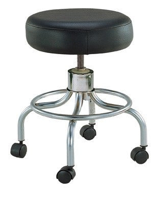 Revolving Adjustable Height Stool with Round Footrest