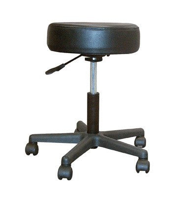 Revolving Pneumatic Adjustable Height Stool with Plastic Base - Doctors - Mountainside Medical Equipment