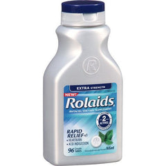 Rolaids Extra Strength Chewable Tablets 96/Bottle for Heartburn by Chattem | Medical Supplies